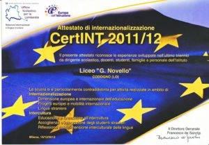 Attestato CertINT