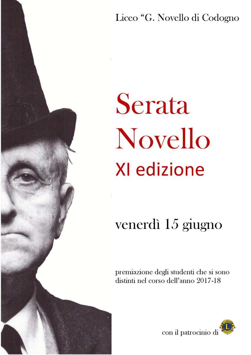 Serata Novello, 15 giungo 2018