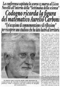 Ricordo di Aurelio Carboni