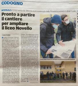 Nuove aule al Novello