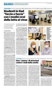 """Evento """"Un anno di pandemia"""" sul Cittadino"""